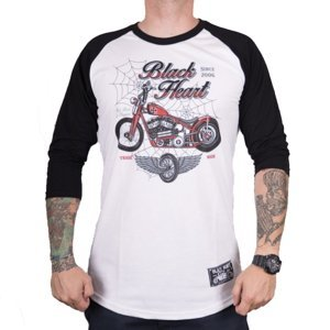 Tričko s dlhým rukávom BLACK HEART Red Baron Chopper biela - L