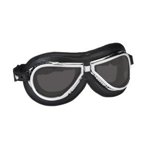 Vintage moto okuliare Climax 500, dymové sklá