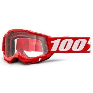 Motokrosové okuliare 100% Accuri 2 červená, číre plexi