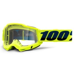 Motokrosové okuliare 100% Accuri 2 žltá, číre plexi