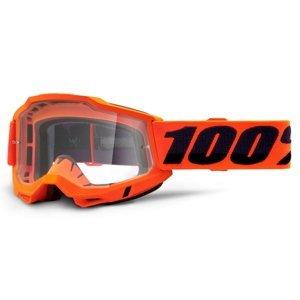 Motokrosové okuliare 100% Accuri 2 Orange oranžová, číre plexi