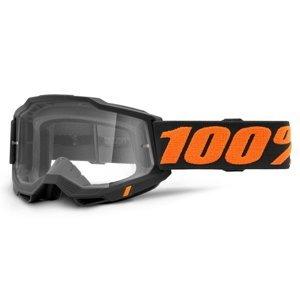 Motokrosové okuliare 100% Accuri 2 Chicago čierno-oranžová, číre plexi