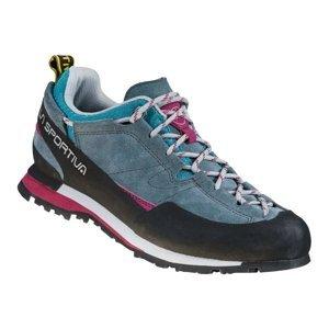 Dámske trailové topánky La Sportiva Boulder X Women Slate/Red Plum - 40,5