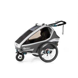 Multifunkčný detský vozík Qeridoo KidGoo 2 Sport Anthracite Grey
