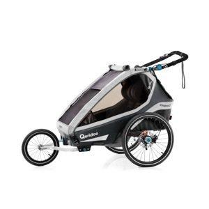 Multifunkčný detský vozík Qeridoo KidGoo 2 Pro Anthracite Grey