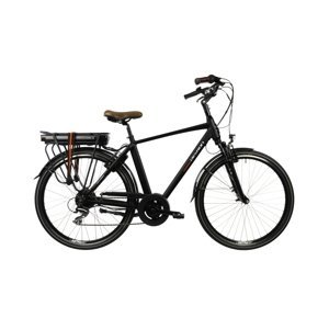 "Mestský elektrobicykel Devron 28221 28"" - model 2022 Black - 21"" - Záruka 10 rokov"