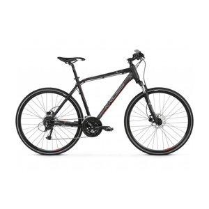 """Pánsky crossový bicykel Kross Evado 5.0 28"""" - model 2021 čierno-červená - XL (23"""") - Záruka 10 rokov"""