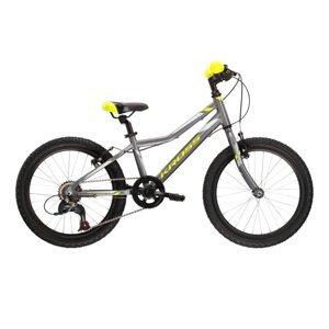 """Detský bicykel Kross Hexagon Mini 1.0 SR 20"""" - model 2021 Graphite / Lime / Silver Glossy - 11"""" - Záruka 10 rokov"""