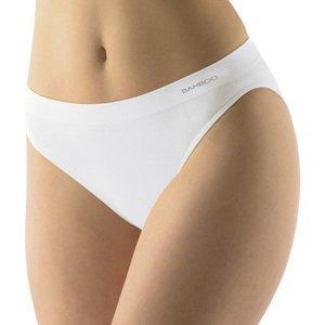 Klasické nohavičky s úzkym bokom EcoBamboo biela - L/XL