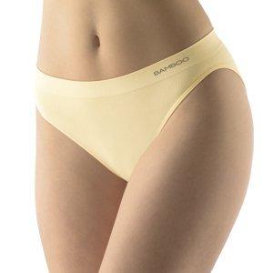 Klasické nohavičky s úzkym bokom EcoBamboo telová - L/XL