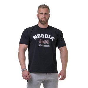 Pánske tričko Nebbia Golden Era 192 Black - XXL