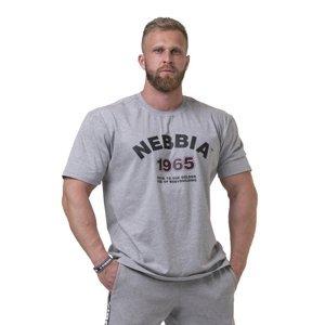 Pánske tričko Nebbia Golden Era 192 Light Grey - XL