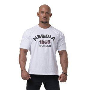 Pánske tričko Nebbia Golden Era 192 White - M