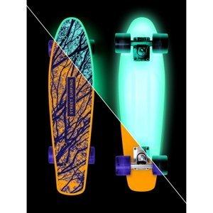 "Svietiaci penny board Street Surfing Beach Board Glow Mystic Forest 22,5"""