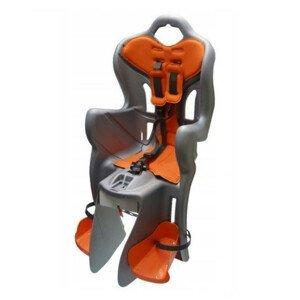 Detská sedačka na bicykel Bellelli B-One Clamp strieborno-oranžová