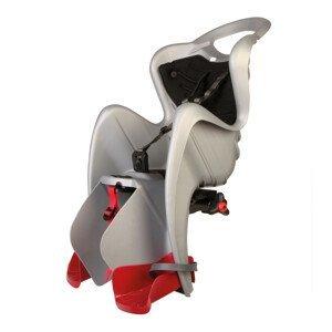 Detská sedačka na bicykel Bellelli Mr Fox Clamp strieborná