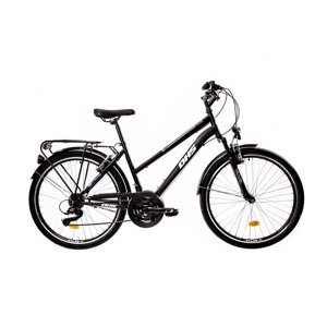 "Dámsky trekingový bicykel DHS 2854 28"" - model 2021 Black - 19"" - Záruka 10 rokov"