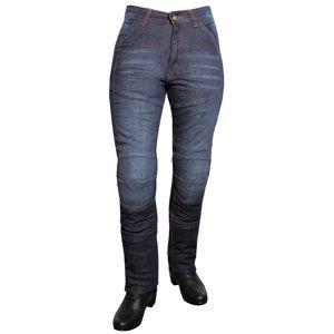 Dámske jeansové moto nohavice ROLEFF Aramid Lady modrá - 35/2XL