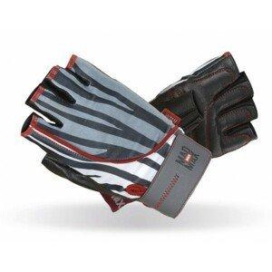 Fitness rukavice Mad Max Nine-Eleven zebra - L