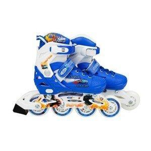 Detské kolieskové korčule modré