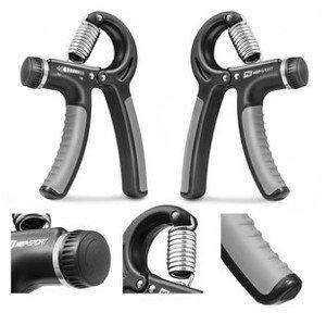 Posilňovač rúk s reguláciou 10-40kg čierno-šedý